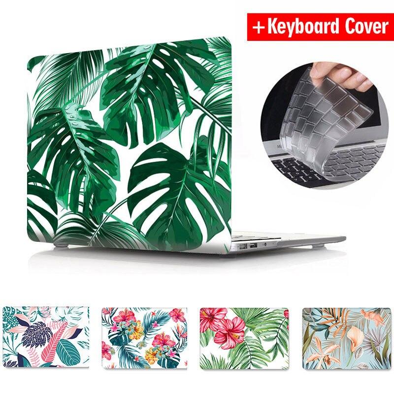 Étui pour ordinateur portable pour Macbook Air Pro Retina 11 12 13 15 fleurs marbre mignon dessin animé clair mat Air 13 A2179 A1466 Pro 13 A1708 A1502