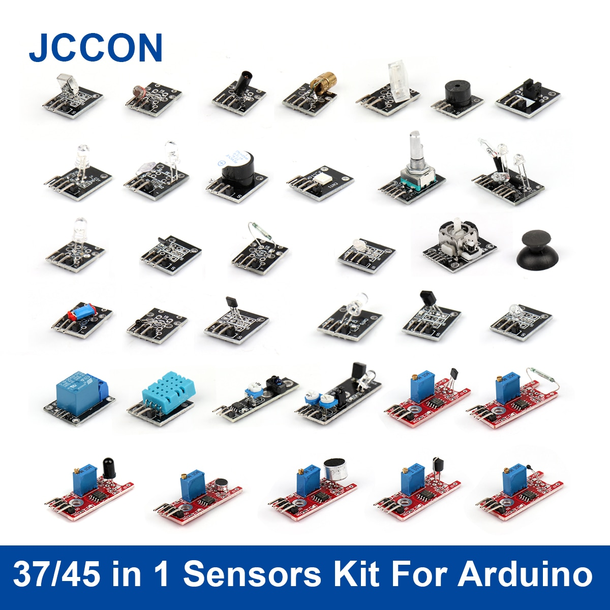 DIY 37 In 1 Sensor Kits For Raspberry Pi 4B Arduino Beginner Sensor Module Learning Suit Ultimate Top Quality Sensor Module Kit