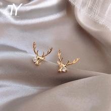Christmas personality elk Shape Earrings New Year party focus Earrings temperament Crystal Earrings lady shipin