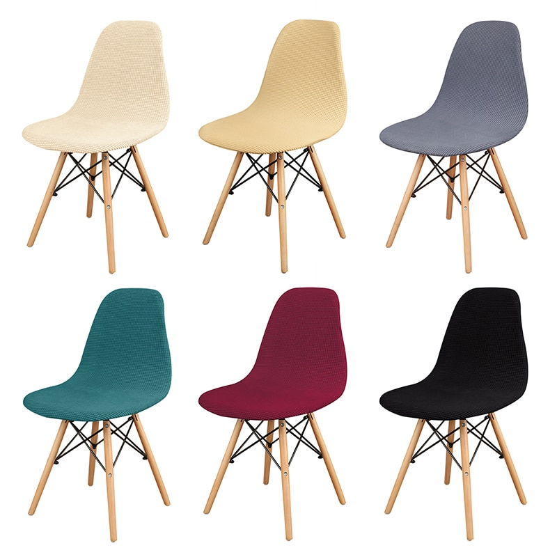 AliExpress - 1/2/4/6 Pcs Velvet And Polar Fleece Fabric Stretch Scandinavian Chair Cover 2021 New Style Washable Seat Cover For Home Hotel