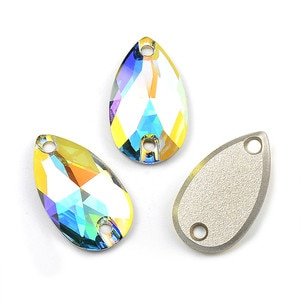 Austrian Crystal AB 3230 drop sewing stones 12mm pear shape for wedding garnments dress Decorations