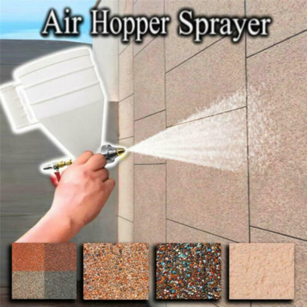 Air Hopper Sprayer Spray Paint Texture Tool Coating Portable for Wall Drywall Home SDF-SHIP