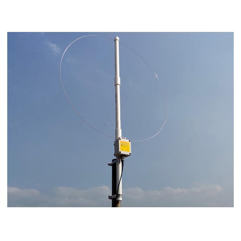 K-180WLA Active small Loop short wave antenna Broadband Receiving Antenna 0.1MHz-180MHz SDR radio antenna