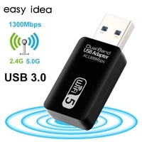 Wifi USB Wifi Adapter 5Ghz Wi fi USB Adapter AC 1200Mbps Wi-fi Adapter Dual Band USB 3 0 Ethernet 2 4G 5G Wifi Antenna For PC