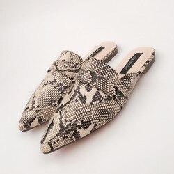 MHYONS Novas Mulheres Sexy Sandálias Chinelos Planas Moda Padrão de pele de Cobra Sapatos de Verão Praia Senhora Do Escritório Sapatos Ao Ar Livre Tamanho 35-42