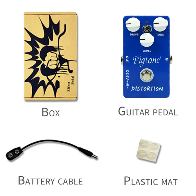 Pigtone PP-04 Distortion Guitar Effect Pedal Acoustic Electric Guitar Accessories Effects Pedals Real bypass enlarge