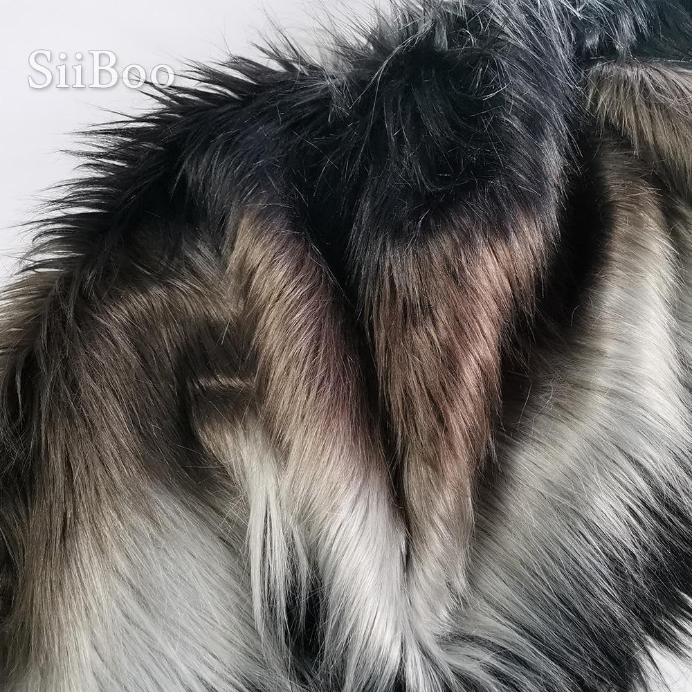 عالية الجودة 7 سنتيمتر كومة أسود وردي كاكي أحمر أزرق فو الثعلب الفراء النسيج ل معطف الخريف تأثيري التصوير أربعة ألوان tissus SP6167