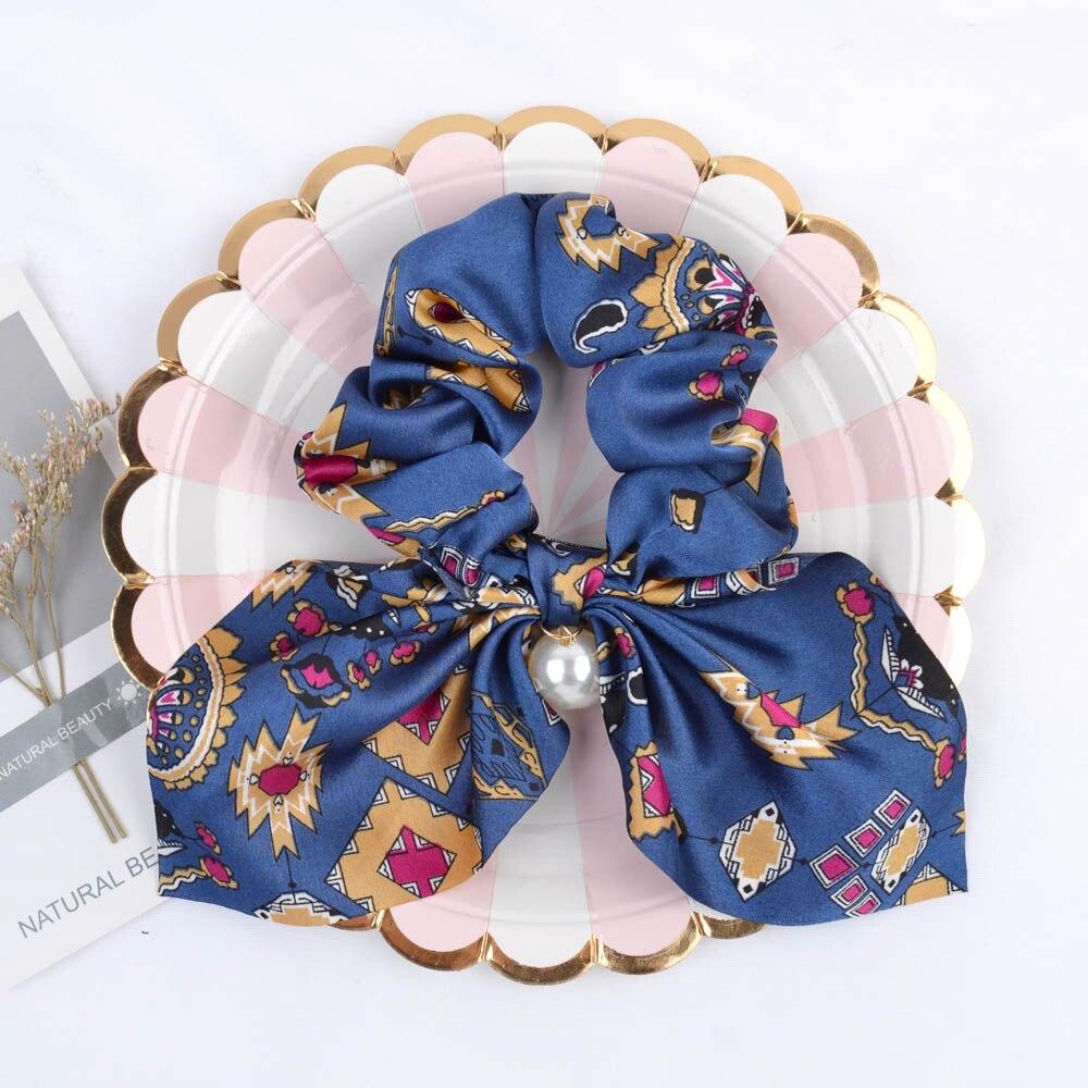 Novi šifonski elastični trakovi za lase za ženske in deklice, - Oblačilni dodatki - Fotografija 2