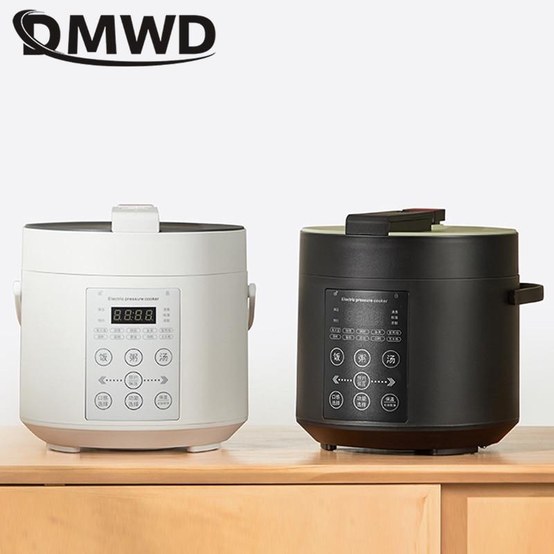 DMWD 2L المنزلية متعددة الوظائف الكهربائية قدر الضغط موقد صغير لطهي الأرز الغذاء الطبخ إناء للحساء صانع 24H موعد 220 فولت
