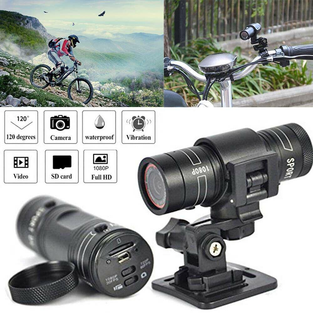 F9 Camera HD Mountain Bike Bicycle Motorcycle Helmet Sports Action Camera Video DV Camcorder Full HD1080p Car Video Recorder