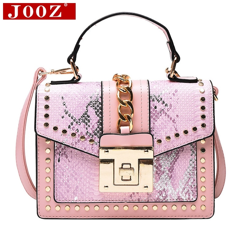 Fashion Brand Women Bag Serpentine Leather Handbags Chain lock Tote bag Designer Crossbody Bags for Women Shoulder Bag