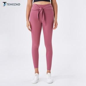 TEHEZAD 2021 Women Fitness Leggings Mujer Running Sport Sweatpants Yoga Pants Female Gym Sportwear High Waisted Workout Tights