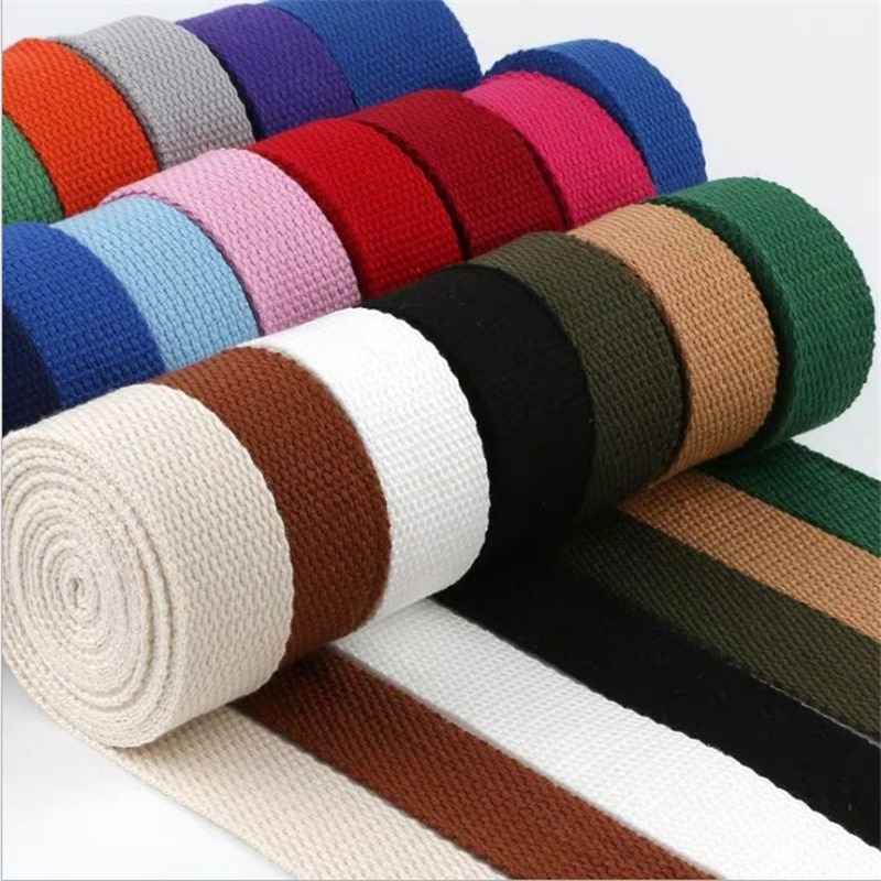 New 5Meters 25mm Canvas Ribbon Belt Bag Thickening Cotton Webbing Canvas Webbing Knapsack Strapping