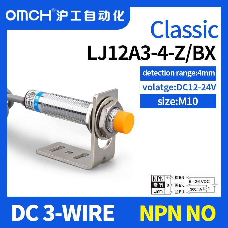 OMCH LJ12A3-4-Z/BX LJ12A3-4-Z/BY Новый индуктивный датчик приближения NPN DC 6-36V