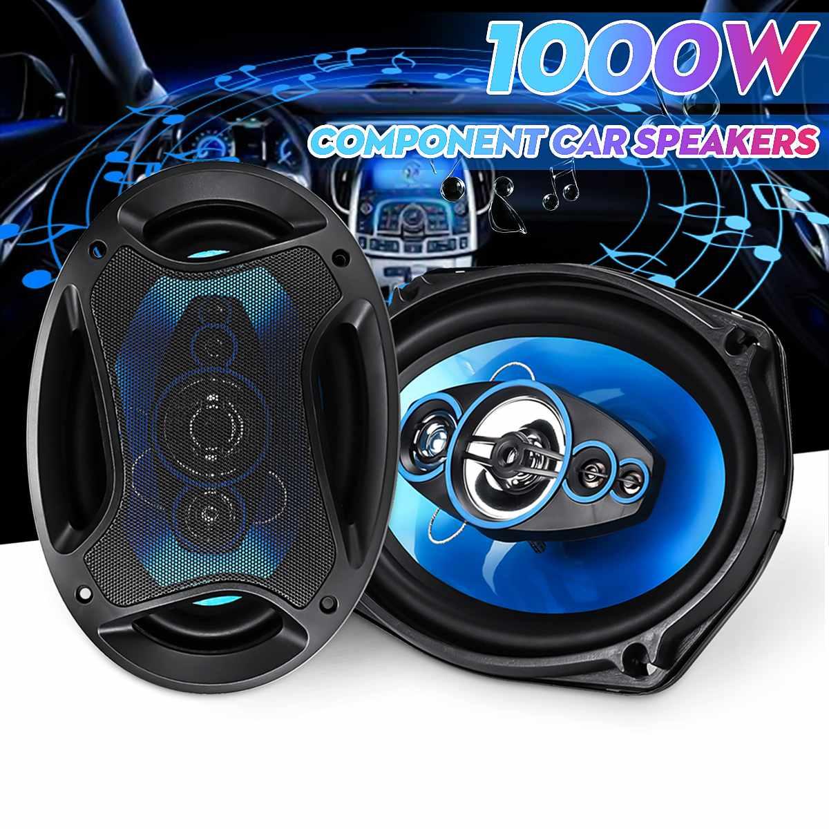 2 uds 6x9 pulgadas 1000W 2 del coche del vehículo altavoz Coaxial Audio de coche de música estéreo altavoz frecuencia de rango completo de alta fidelidad de los altavoces del coche