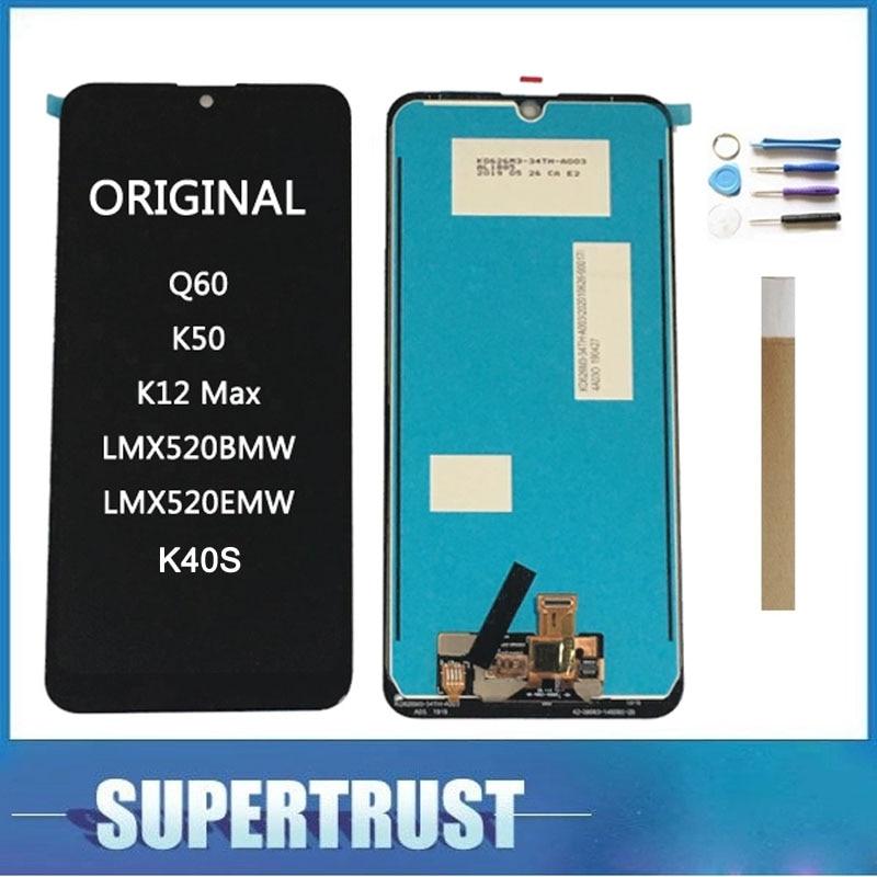 Original Quality For LG Q60 K50 K12 Max LMX520BMW LMX520EMW K12 Prime K40S K50S LCD Display+Touch Screen Digitizer Assembly