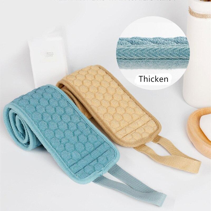 Toalhas de banho de fibra natural, toalhas de banho para limpeza e descamação corporal, escovas para banho