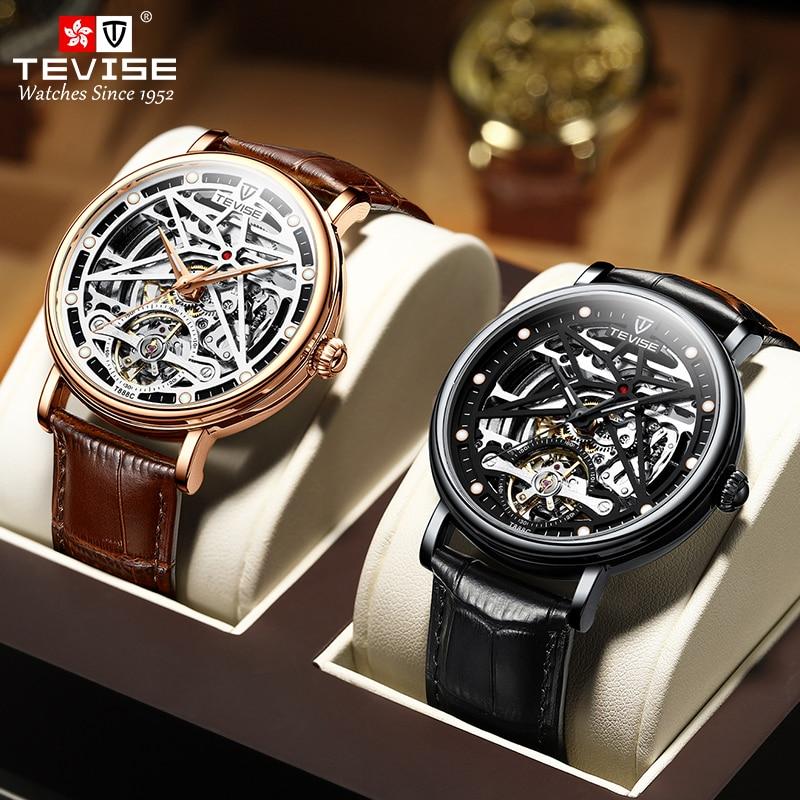 TEVISE Men Mechanical Watch Fashion Design Top Brand Luxury Automatic Wristwatch Male Sports Waterpr