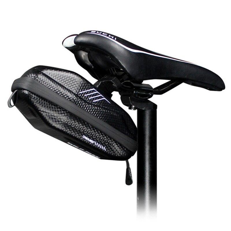 Wild Man EVA Hard Shell 0.8L bolsa de parte trasera de bicicleta sillín bolsas impermeable camino MTB bolsa a prueba de golpes ciclismo bolsillo Accesorios