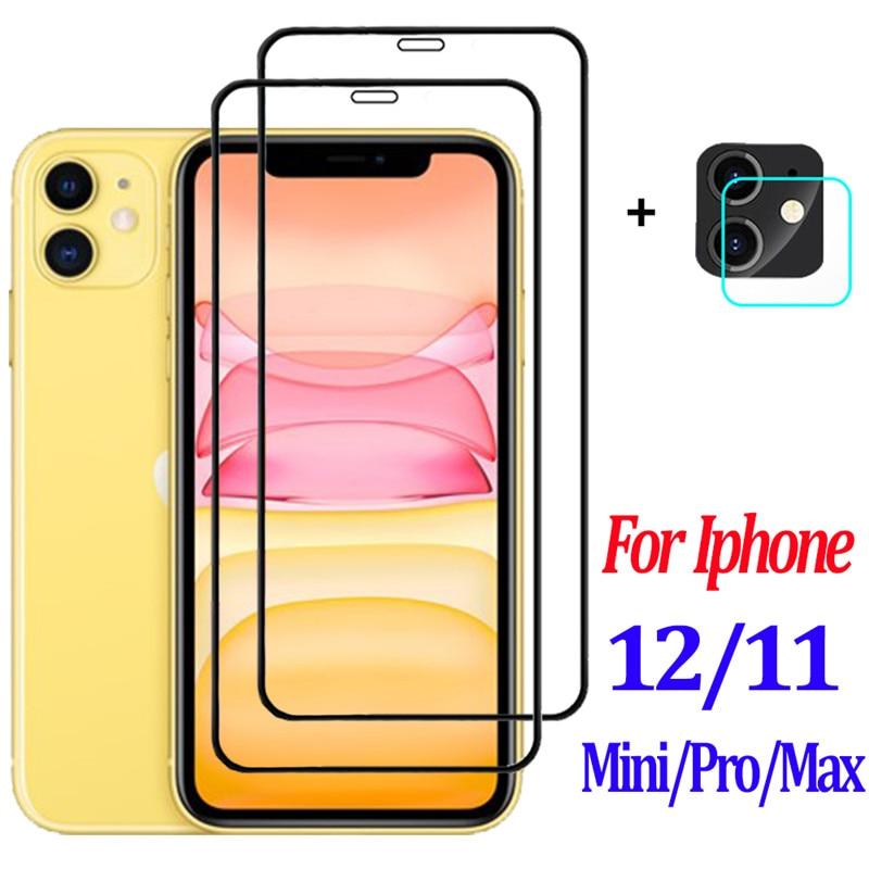 9H Cristal Templado para iphone 11 Cristal + lente de cámara película...