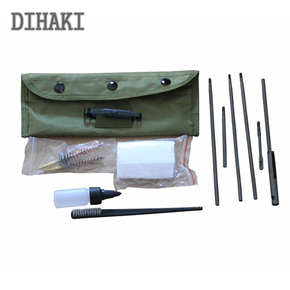 Kit de limpieza para Rifle M4 M16 10 unidades. Juego de brochas de 5,56mm 22. 30cal, barra limpia, conveniente accesorio de caza para estuche de nailon