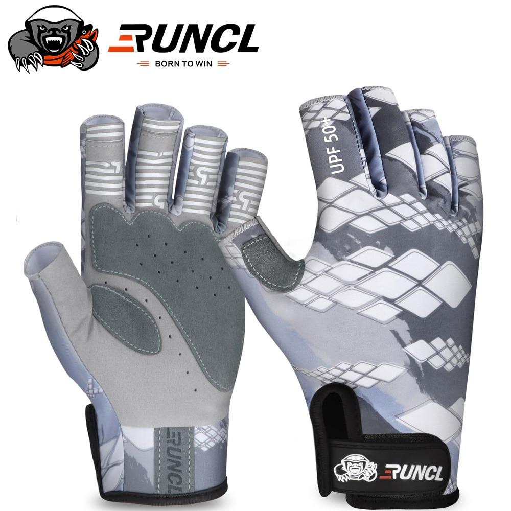 Летние перчатки для рыбалки RUNCL, солнцезащитные мужские перчатки для защиты рук, дышащая Спортивная одежда для улицы, перчатки для ловли карпа, рыбалки, одежда для рыбалки Перчатки для рыбалки      АлиЭкспресс