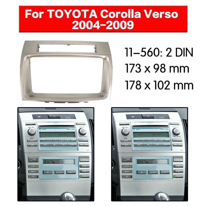 ZW11-560 DVD/CD para coche, Radio Placa de salpicadero para MARCO DE Radio, Kit adaptador de ajuste para TOYOTA Corolla Verso 2004 2005 2006 2007 2008 2009