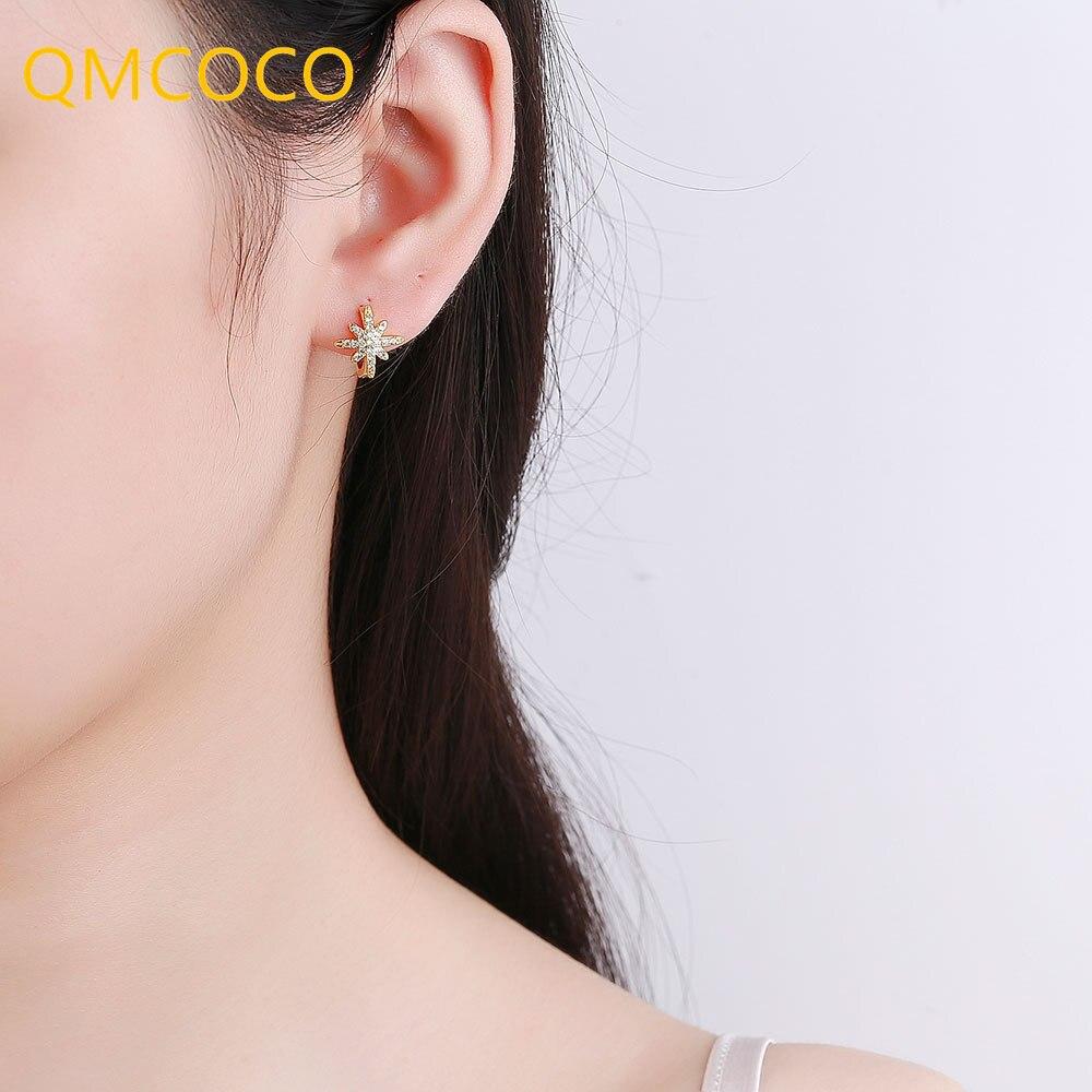 qmcoco-предотвращает-аллергию-925-Серебряные-тусклые-полированные-серьги-гвоздики-для-женщин-модные-элегантные-в-форме-сердца-ювелирные-издел
