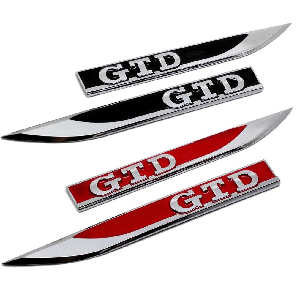 Pegatina lateral para guardabarros, emblema de maletero trasero de Metal para el logotipo GTD para Volkswagen Passat Polo Tiguan Touran Lavida Golf
