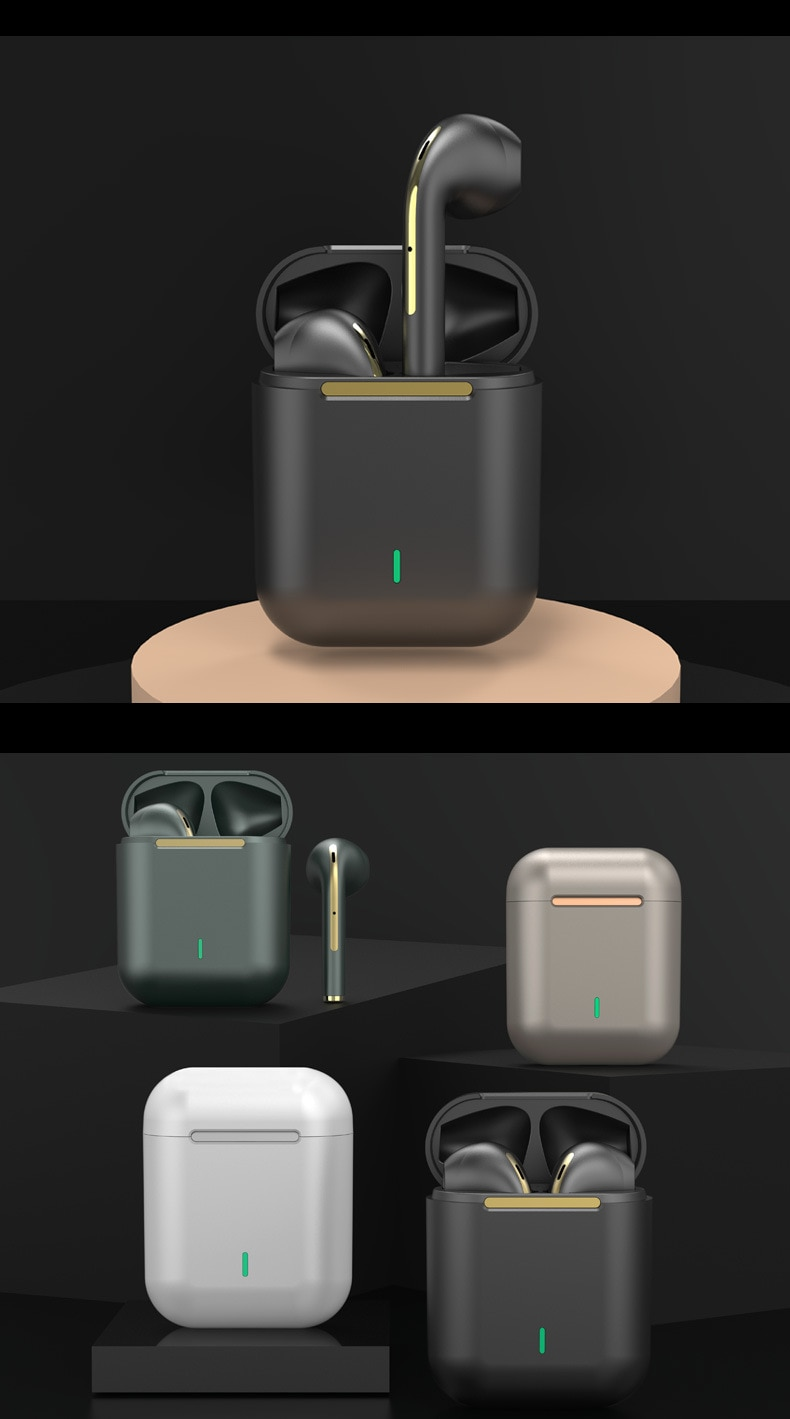 سماعات رأس جديدة لاسلكية مزودة بتقنية البلوتوث وسماعات أذن ستيريو حقيقية في الأذن سماعات أذن غير محمولة لهواتف iPhone 8 11 12