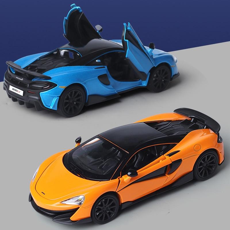 Модель автомобиля из 1:32 сплава McLaren simulation, ограниченная серия, модель автомобиля, оттягивающая заднюю часть автомобиля, легкая музыкальная детская игрушка, игрушка для мальчика