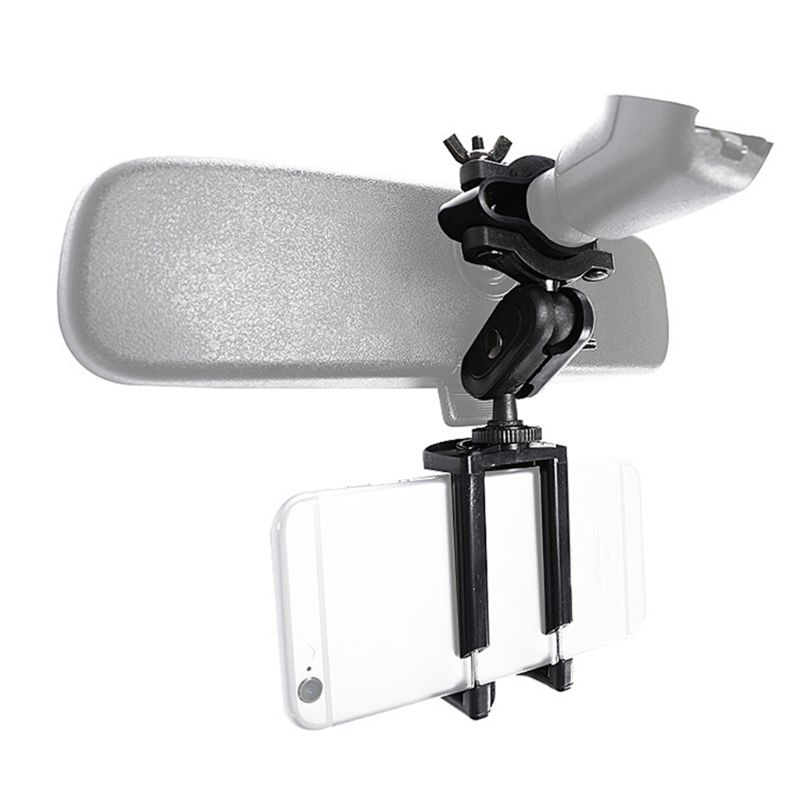 Car Phone Holder Adjustable Rear View Mirror Mount Stand for Mobile Phone GPS Display Bracket Access