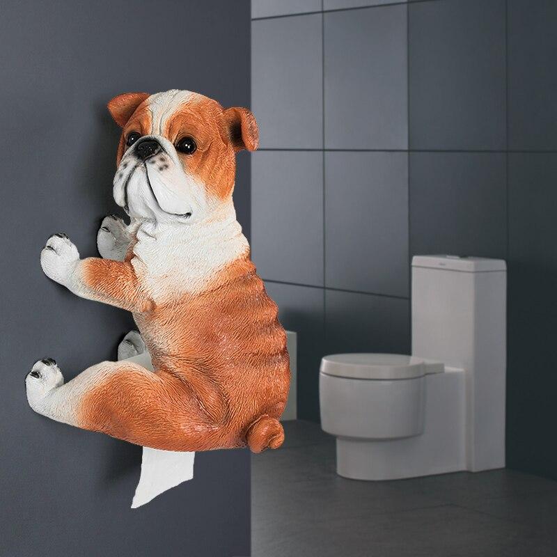 [HHT] الحيوان البلدغ الأنسجة حامل الشمال شخصية المرحاض منشفة ورقية الحمام لفة ورقة قوس الإبداعية اكسسوارات المنزل