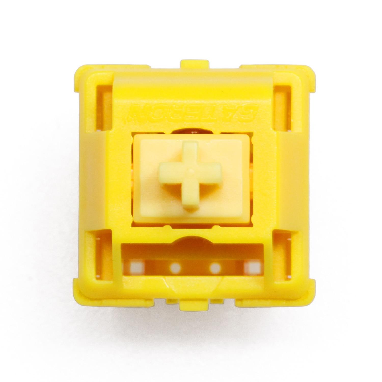 Gateron-مفاتيح لوحة المفاتيح الميكانيكية ، لون ذهبي ، أصفر ، مع غطاء ، 5 سنون ، RGB ، 63 جيجا ، mx ، 50 متر ، مع قاعدة أكريليك