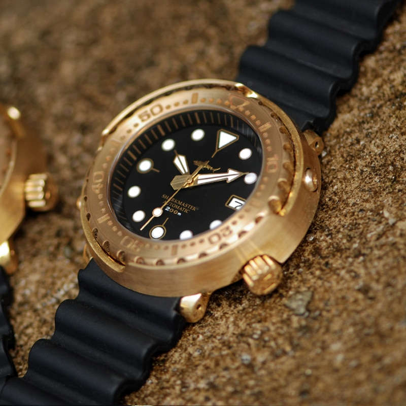 Heimdallr Men's Bronze Dive Watch Sapphire Crystal Luminous Marks 20ATM Water Resistance Japan NH35A Automatic Movement Watches enlarge