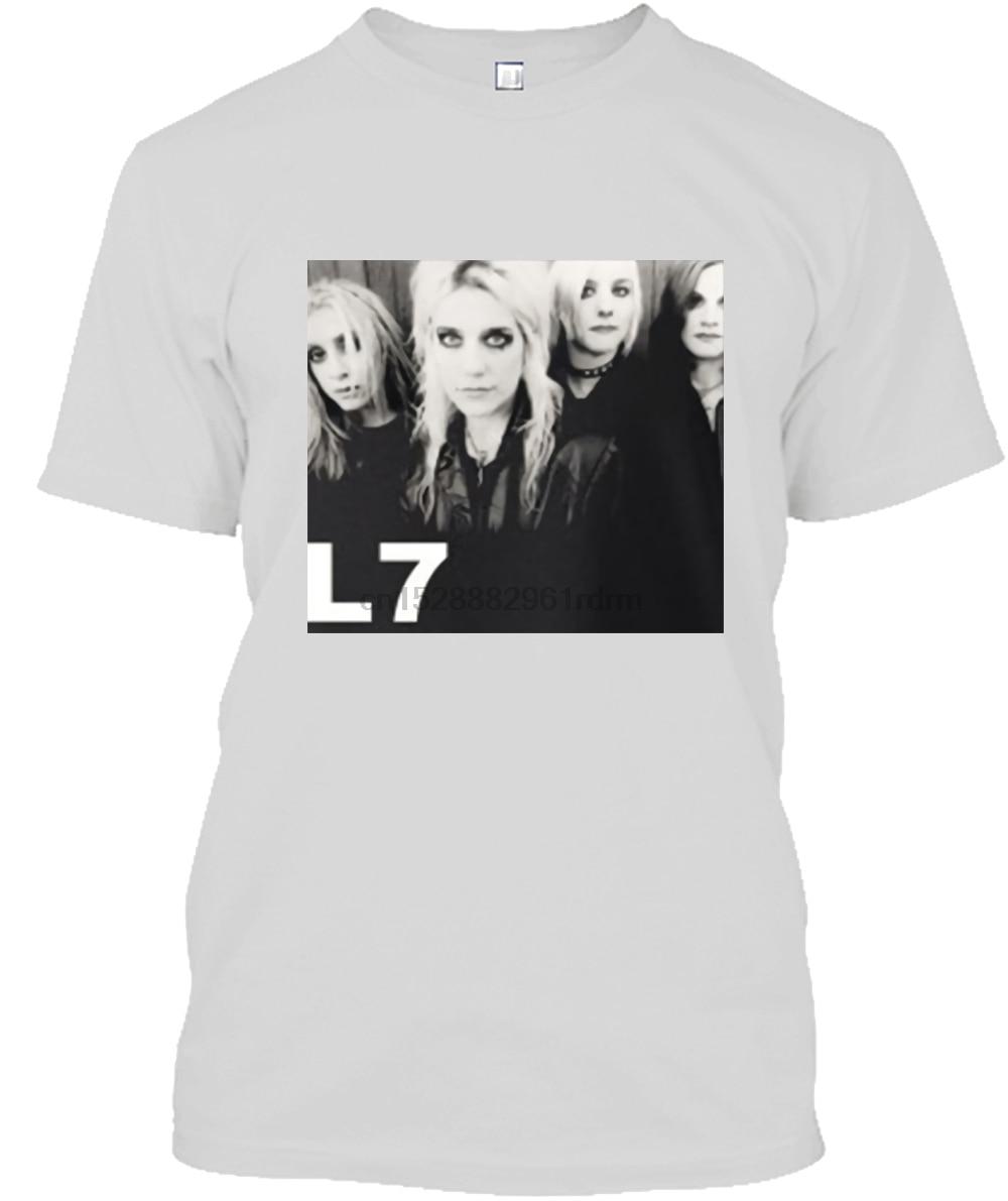 Camiseta de moda de cuello redondo 100% de algodón de manga corta L7 banda Joan Jett Rock Band para hombre Camiseta negra tallas S a 3Xl gratis XJNYCAEF
