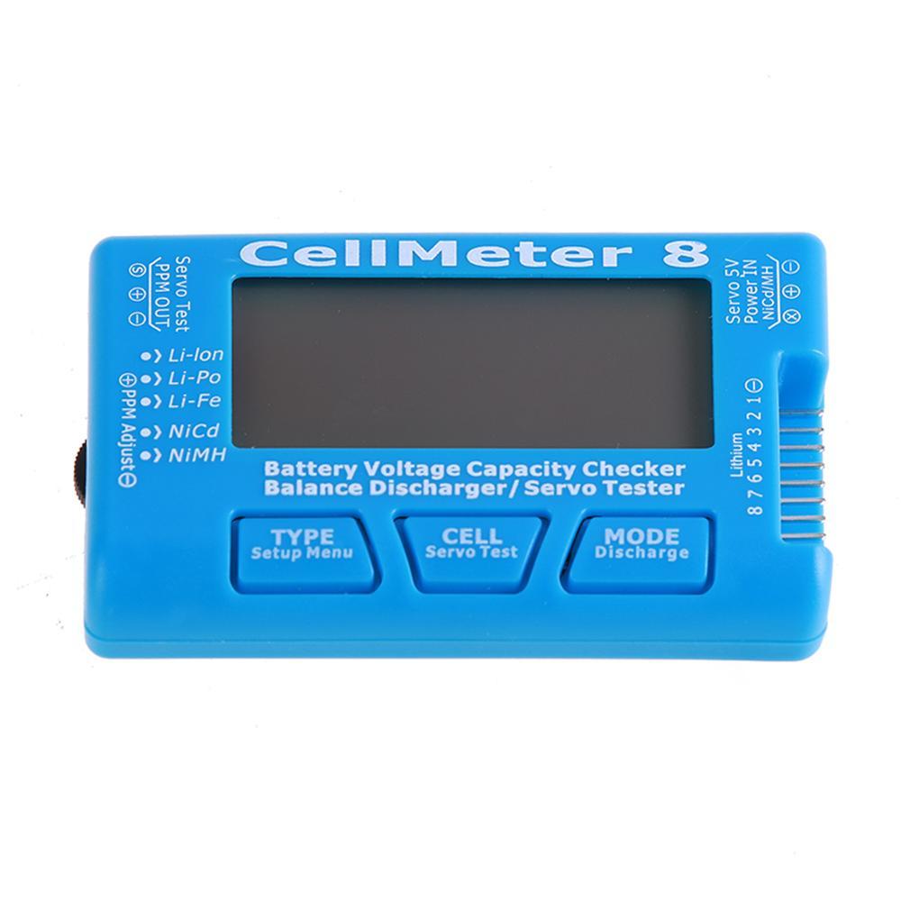 RC Equilíbrio Descarregador 8 CellMeter Verificador Da Capacidade Da Bateria Digital Servo Tester Testador de Bateria