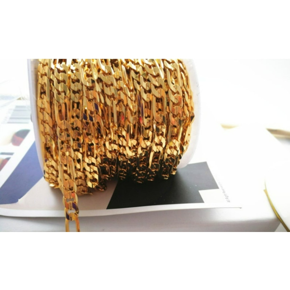 2 Meter Fancy Figaro Chain Thick Chain Great for Women Men Jewelry Making Unisex