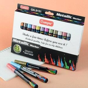 3.0mm DIY Oil-based Paint Marker Pens Metal color Black card ceramic Craftwork Pen painting Art Supplies 4/8/15/20/24Pcs Set