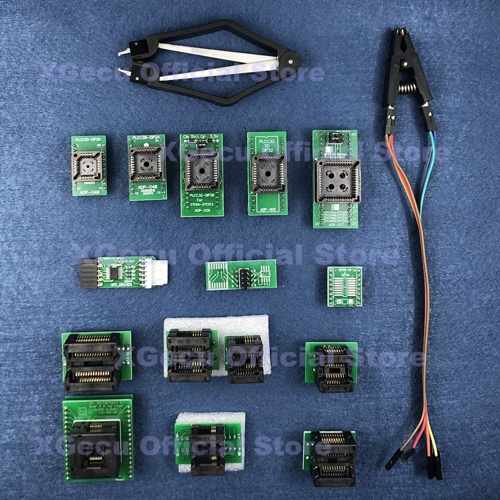 محول SPI driver QFP32 SOP16 SOP20 SSOP8 PLCC, يناسب XGecu TL866II Plus USB مبرمج عالمي SPI Flash EEPROM MCU AVR
