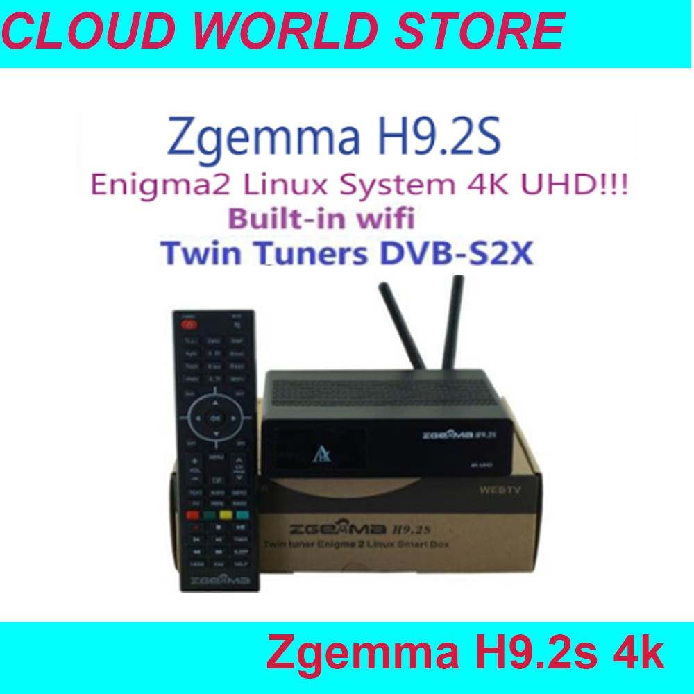 2019 NOVA Versão H9.2S ZGEMMA Receptor de Satélite Linux os 4 Enigma2 Digital K UHD DVB-S2X + DVB-S2X twin tuner Construído em Wi-fi