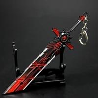 genshin impact keychains sword anime wolfs gravestone genshin cosplay weapons skyward blade key rings gifts decoration crafts
