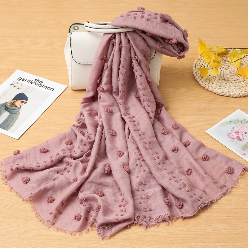 Bufanda de lino y algodón de estilo coreano para mujer, Color sólido,...