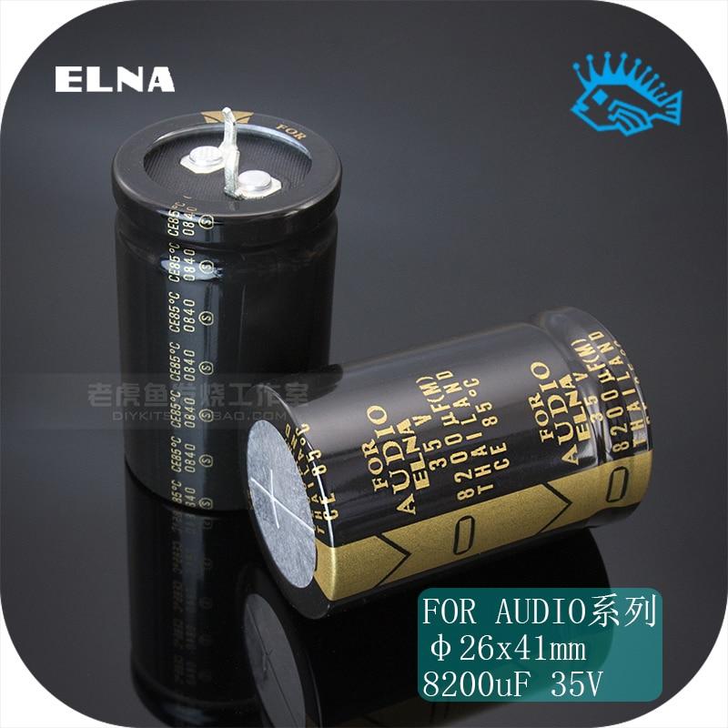 1 uds/5 uds 35V8200uF 35V para AUDIO ELNA LAO Series Filtro de sonido de fiebre condensador electrolítico