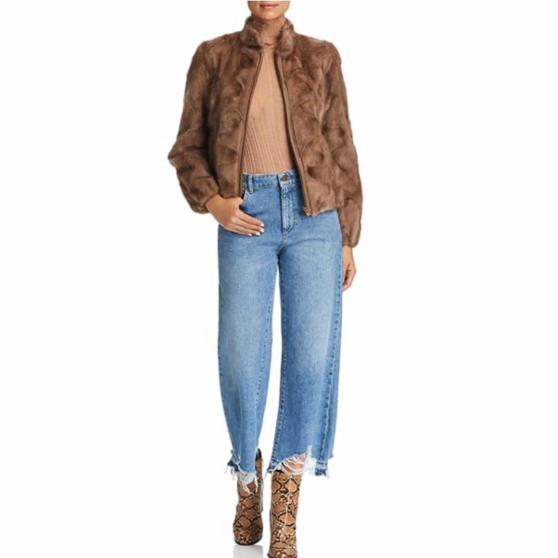 Женское модное пальто из натуральной норки, теплая и модная зимняя одежда, уличный стиль в Европейском стиле, 2021