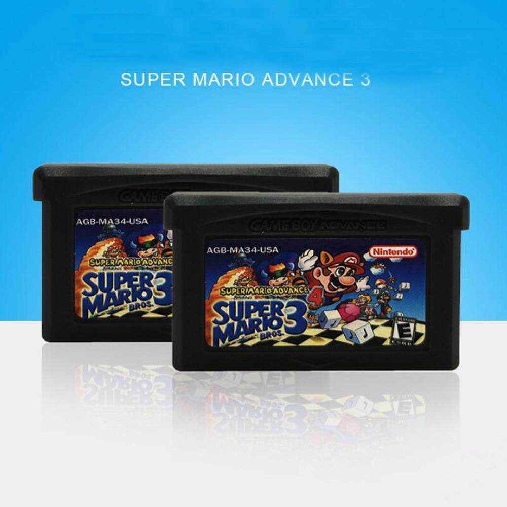 SUPER MARIO ADVANCE 3 GBA Game Card Game Boy Advance For Nintend NDSL GB GBC GBM SP