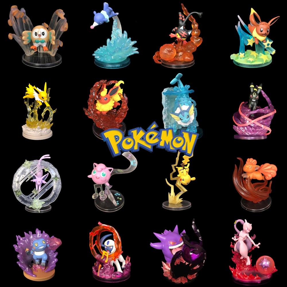 TAKARA TOMY figura niños regalos Pokemon monstruo de bolsillo sol y luna Pikachu Nirvana figura escenas de juguete de regalo de Navidad