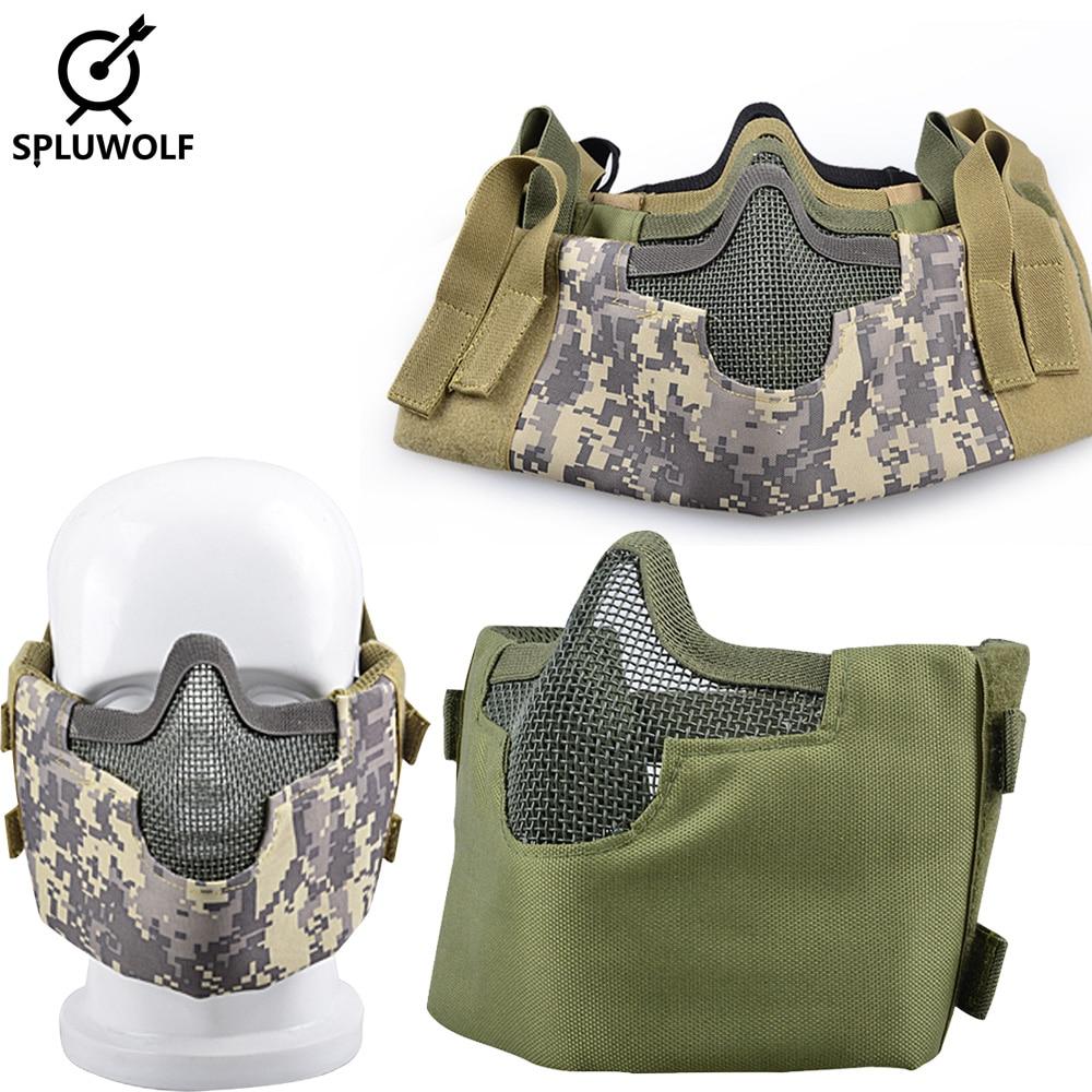 Военный защитный чехол для пейнтбола на половину лица тактическая маска страйкбол
