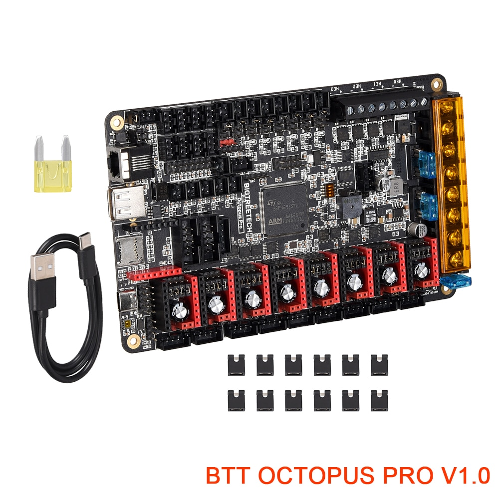BIGTREETECH BTT الأخطبوط برو V1.0 لوحة تحكم ل فورون TMC5160 برو TMC2209 BIQU B1 Ender3 V2 ترقية SKR V1.4 ثلاثية الأبعاد أجزاء الطابعة