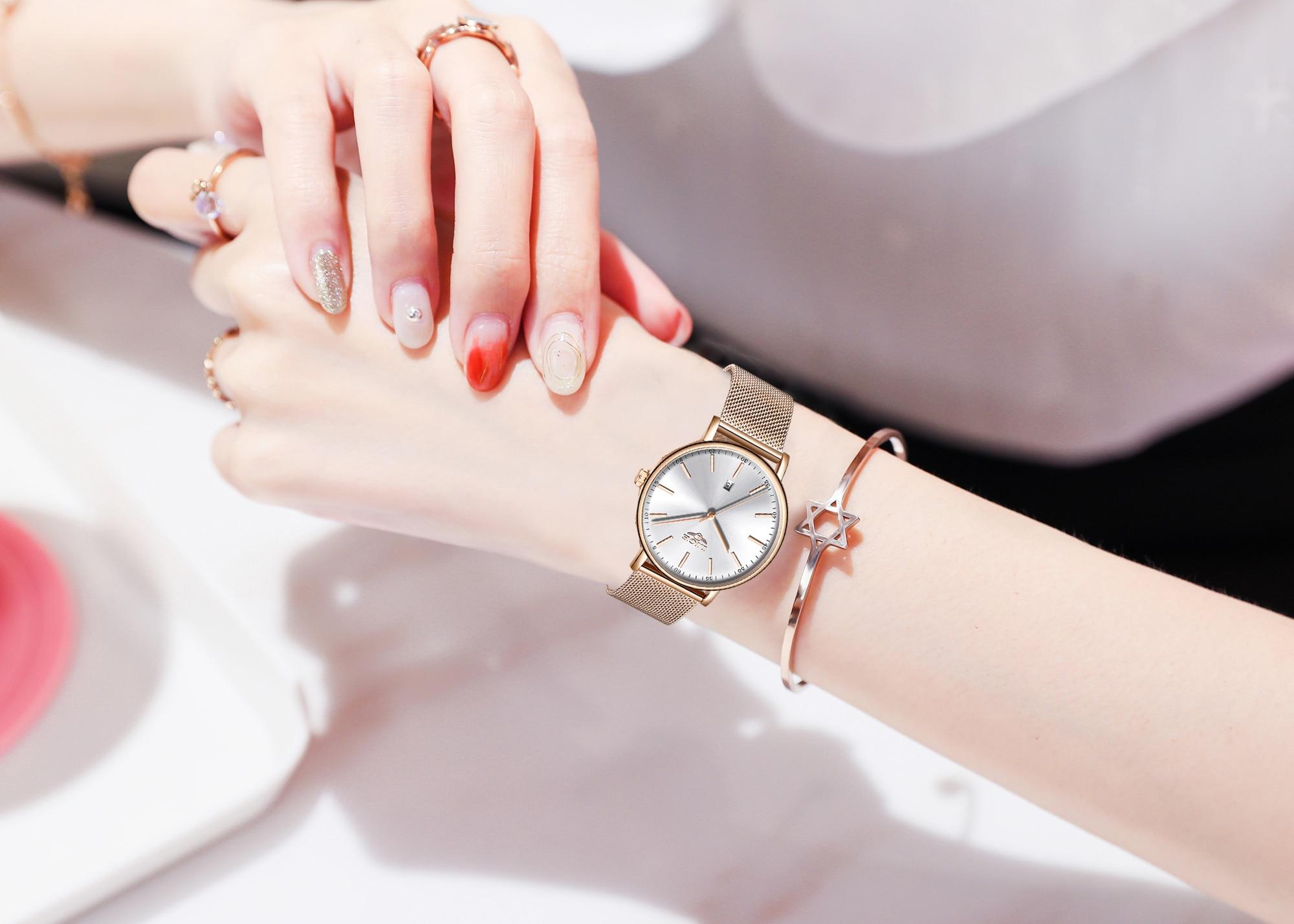 Top Brand LIGE Luxury Waterproof Watch Womens Watches  Fashion Ladies Stainless Steel Ultra-Thin Casual Wristwatch Quartz Clock enlarge